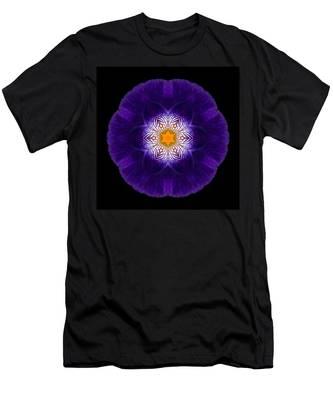 Purple Iris II Flower Mandala Men's T-Shirt (Athletic Fit)