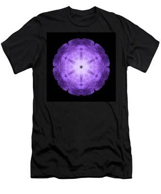 Purple Petunia I Flower Mandala Men's T-Shirt (Athletic Fit)