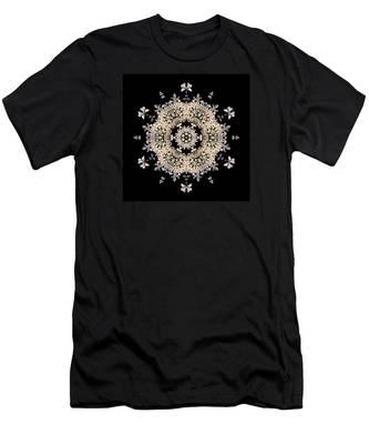 Queen Anne's Lace Flower Mandala Men's T-Shirt (Athletic Fit)