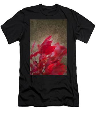 Men's T-Shirt (Athletic Fit) featuring the photograph Red Maple Dreams by Jeff Folger