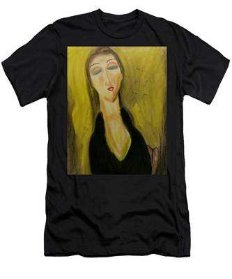 Sophisticated Lady With The Dreamy Eyes Men's T-Shirt (Athletic Fit)