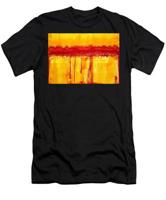 Rocky Mountains Original Painting Men's T-Shirt (Athletic Fit)