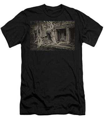 Roots In Ruins 7, Ta Prohm, 2014 Men's T-Shirt (Athletic Fit)