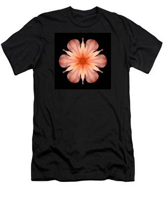 Salmon Daylily I Flower Mandala Men's T-Shirt (Athletic Fit)