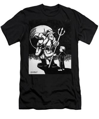 Satan Santa Men's T-Shirt (Athletic Fit)