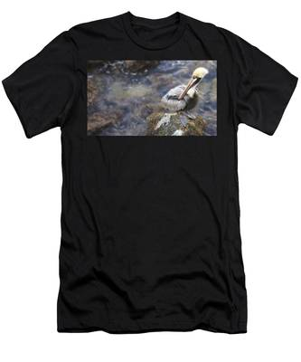 Sitting On A Rock In The Bay Men's T-Shirt (Athletic Fit)