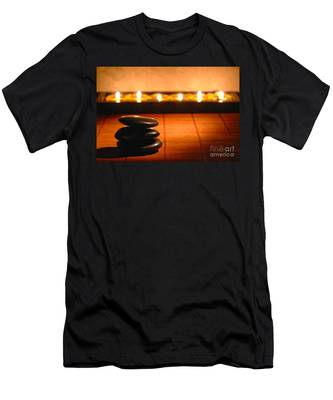 Stone Cairn And Candles For Quiet Meditation Men's T-Shirt (Athletic Fit)