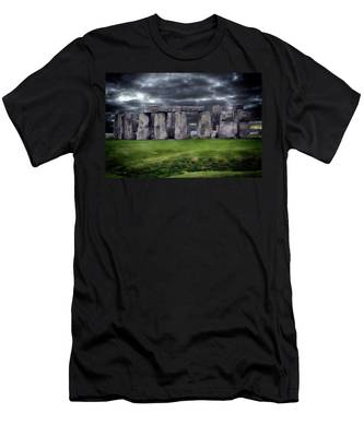 Storm Clouds Over Stonehenge Men's T-Shirt (Athletic Fit)