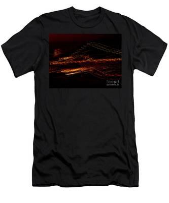 Streaks Across The Bridge Men's T-Shirt (Athletic Fit)