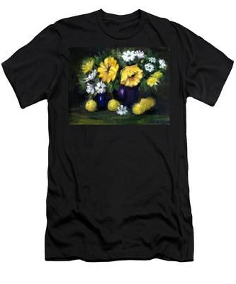 Sun Flowers Men's T-Shirt (Athletic Fit)