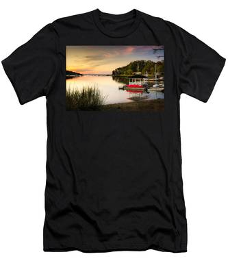Sunset In Centerport Men's T-Shirt (Athletic Fit)