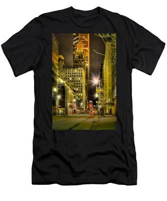 Travis And Lamar Street At Night Men's T-Shirt (Athletic Fit)