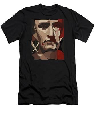 Las Vegas Painting With Hidden Pictures Men's T-Shirt (Athletic Fit)