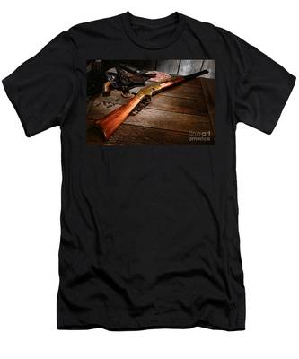 Waiting For The Gunfight Men's T-Shirt (Athletic Fit)