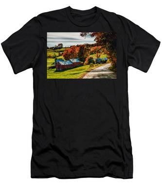 Men's T-Shirt (Athletic Fit) featuring the photograph Wandering Down The Road by Jeff Folger