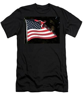 Waving Flag Men's T-Shirt (Athletic Fit)