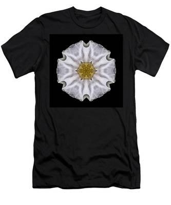 White Beach Rose I Flower Mandala Men's T-Shirt (Athletic Fit)