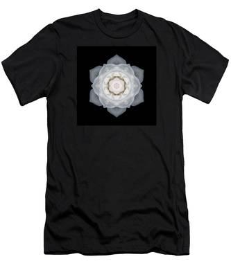 White Rose I Flower Mandala Men's T-Shirt (Athletic Fit)