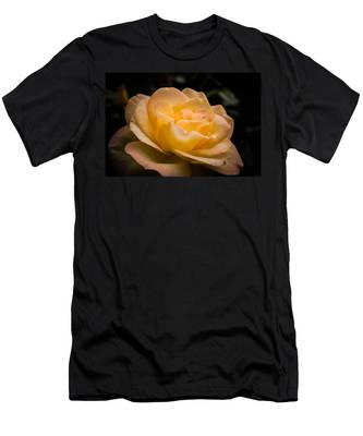 Men's T-Shirt (Athletic Fit) featuring the photograph Yellow Ray Of Sunshine by Jeff Folger