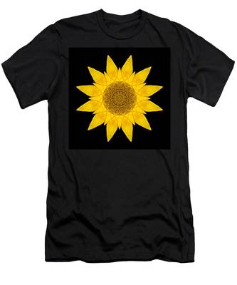 Yellow Sunflower X Flower Mandala Men's T-Shirt (Athletic Fit)