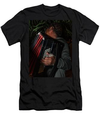 Accordionist Men's T-Shirt (Athletic Fit) by Michael Goyberg