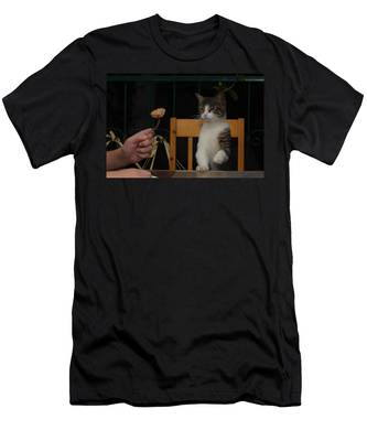 Men's T-Shirt (Athletic Fit) featuring the photograph Before The Attack by Michael Goyberg