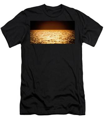 Men's T-Shirt (Athletic Fit) featuring the photograph Fiery Sunset Over The Sea by Michael Goyberg