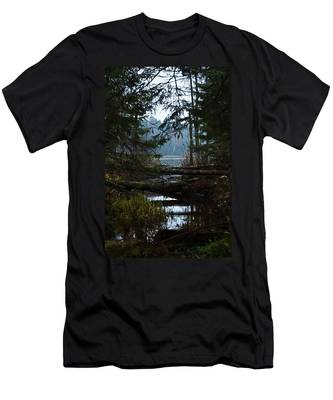 Men's T-Shirt (Athletic Fit) featuring the photograph Forest Lake by Michael Goyberg