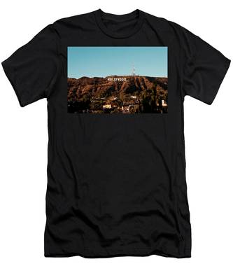 Hollywood Sign At Sunset Men's T-Shirt (Athletic Fit)