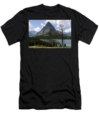 Lone Tree At Sinopah Mountain Men's T-Shirt (Athletic Fit)