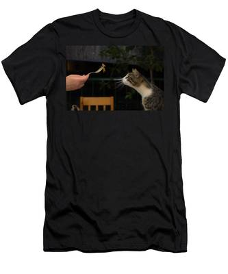Men's T-Shirt (Athletic Fit) featuring the photograph My Best Most Beloved Cat by Michael Goyberg