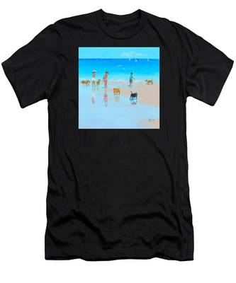 Dog Beach Day Men's T-Shirt (Athletic Fit)