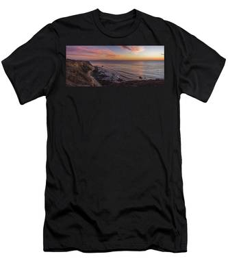 Men's T-Shirt (Athletic Fit) featuring the photograph Colorful Sunset At Golden Cove by Andy Konieczny