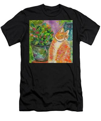 Ginger With Flowers Men's T-Shirt (Athletic Fit)