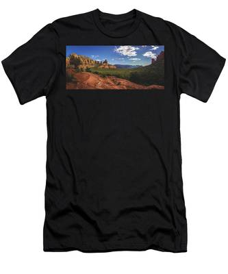 Mormon Canyon Panorama Men's T-Shirt (Athletic Fit)