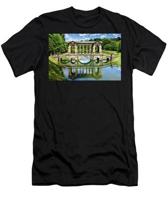 Palladian Bridge Nature Scene Men's T-Shirt (Athletic Fit)