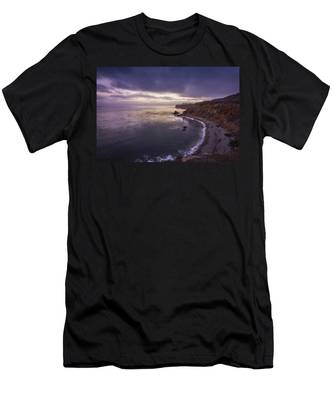 Men's T-Shirt (Athletic Fit) featuring the photograph Pelican Cove After Sunset by Andy Konieczny