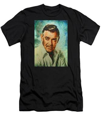 Portrait Of Clark Gable Men's T-Shirt (Athletic Fit)