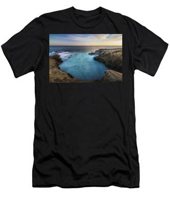 Men's T-Shirt (Athletic Fit) featuring the photograph Sunset At Sequit Point by Andy Konieczny