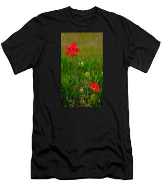 Texas Star Hibiscus Men's T-Shirt (Athletic Fit)