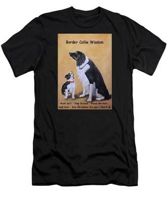 Border Collie Wisdom Men's T-Shirt (Athletic Fit)