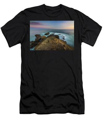 Men's T-Shirt (Athletic Fit) featuring the photograph Smooth Waves At Sequit Point by Andy Konieczny
