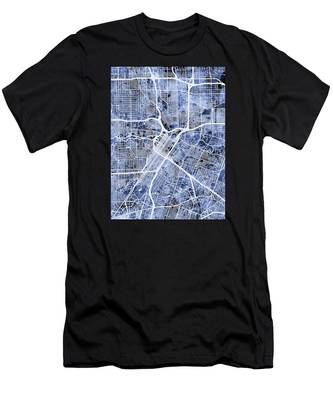 Houston Texas City Street Map Men's T-Shirt (Athletic Fit)