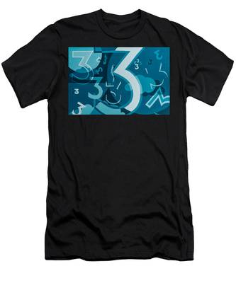 3 In Blue Men's T-Shirt (Athletic Fit)