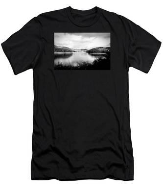 A Black And White Landscape On The Nantahala River Men's T-Shirt (Athletic Fit)