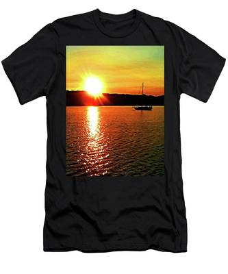 A Early Springtime Visit To Mystic Village In M Men's T-Shirt (Athletic Fit)