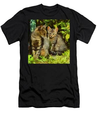 A Pair Of Feral Cats Men's T-Shirt (Athletic Fit)