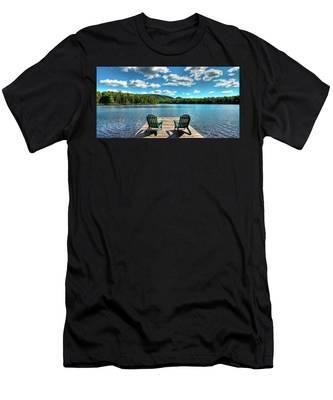 Adirondack Panorama Men's T-Shirt (Athletic Fit)