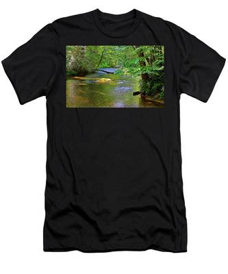 Along The Cullasaja River Men's T-Shirt (Athletic Fit)