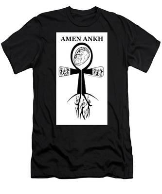 Amen Ankh Bw Men's T-Shirt (Athletic Fit)